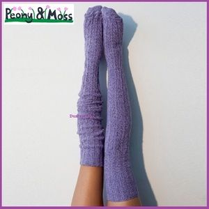 Peony & Moss Thigh High Over Knee Boot Socks Long
